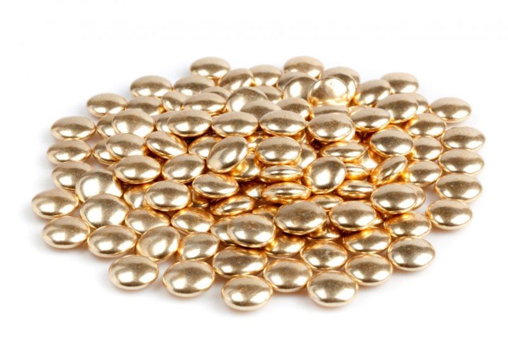 Золотой и серебряный декор: Украшение шоколадное конфетти золото 50г в ТортExpress