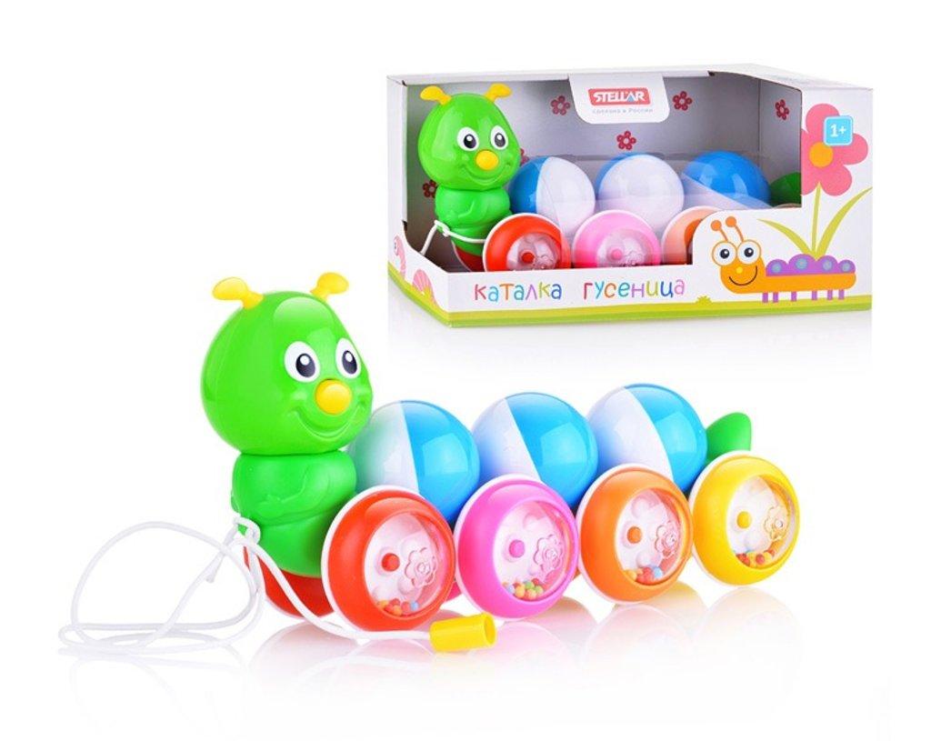 Игрушки для малышей: Каталка Гусеница с шариками в Игрушки Сити
