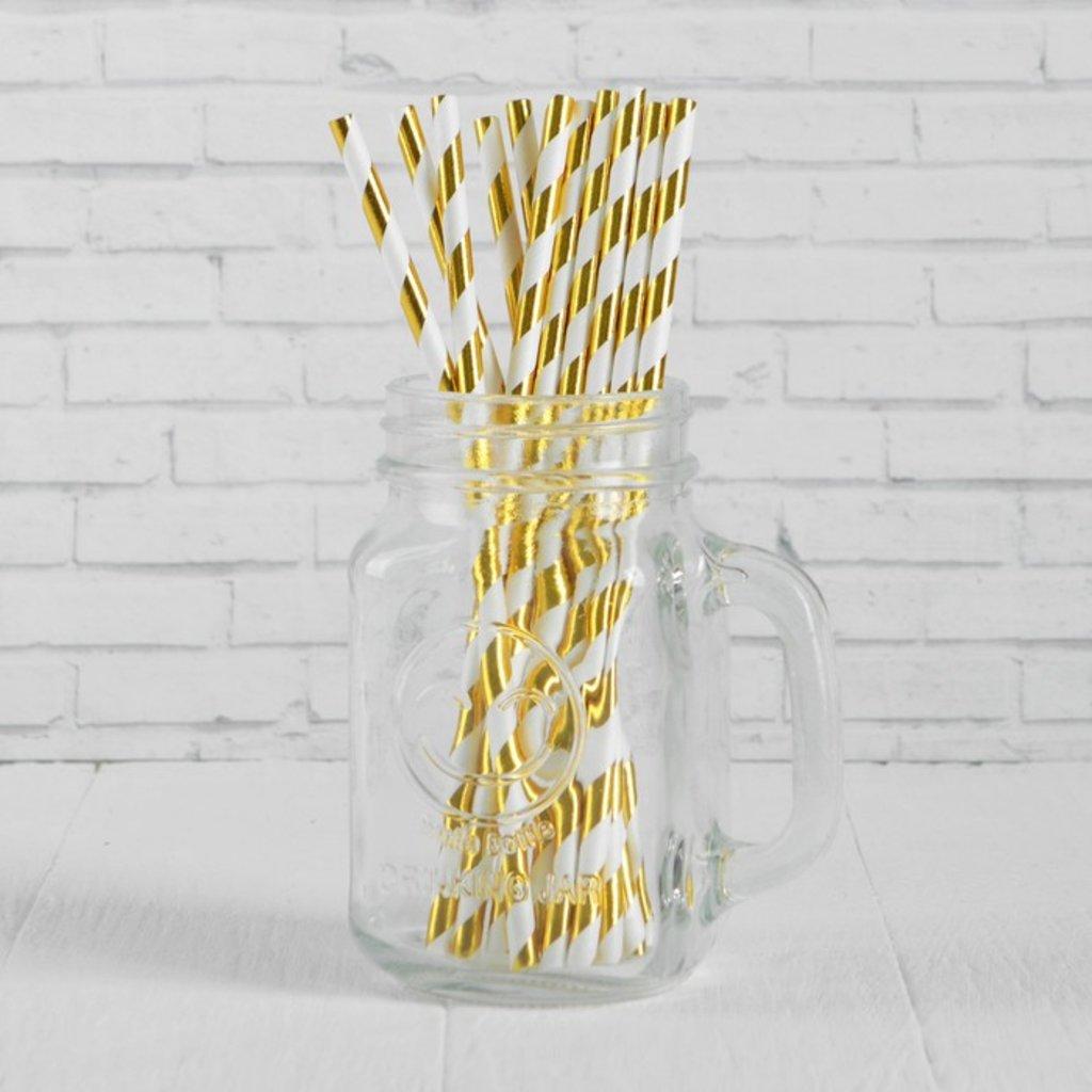 Упаковка: Трубочка для коктейля Спираль золото (набор 12шт) в ТортExpress