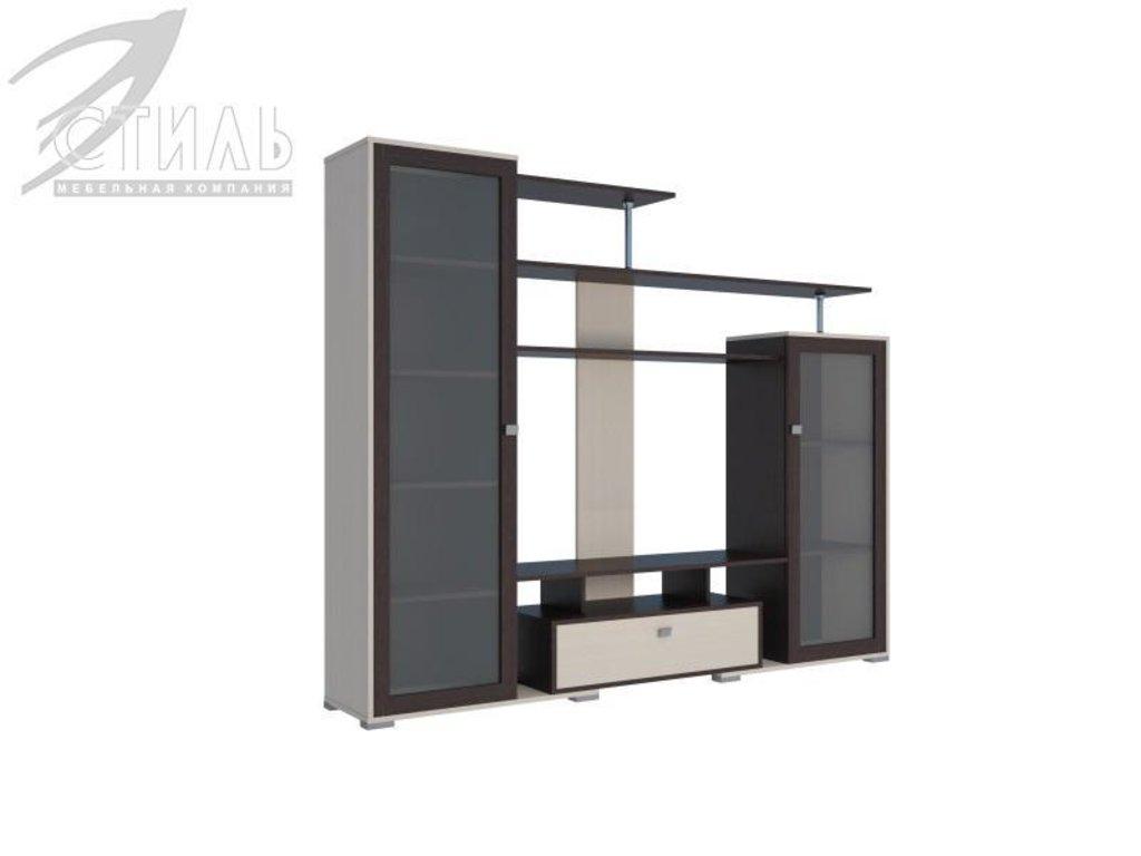 Гостиные: Мебель для гостиной Соло - 5 (венге / дуб молочный) в Диван Плюс
