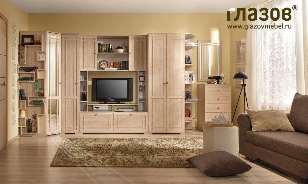 Модульная мебель в гостиную SHERLOCK (Дуб Сонома, Ясень Анкор темный): Модульная мебель в гостиную SHERLOCK (Дуб Сонома, Ясень Анкор темный) в Стильная мебель