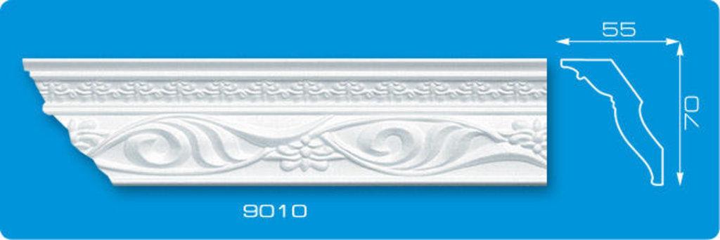 Плинтуса потолочные: Плинтус потолочный ФОРМАТ 9010 инжекционный длина 1,3м, средний в Мир Потолков