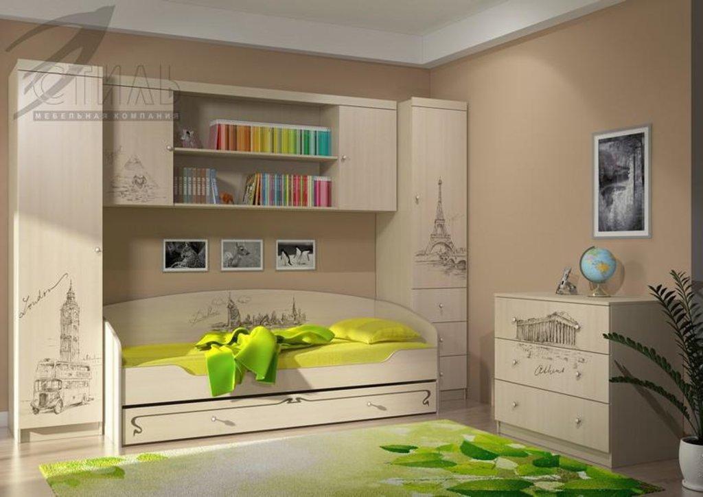 Мебель для детской Мийа - 3 (дуб молочный, фотопечать): Пенал с ящиками ПЯ-304 Мийа - 3 в Диван Плюс
