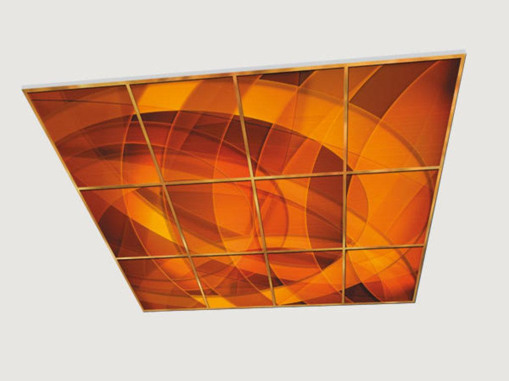 Витражные (стеклянные) потолки: Серия «Геометрия» в Мир Потолков