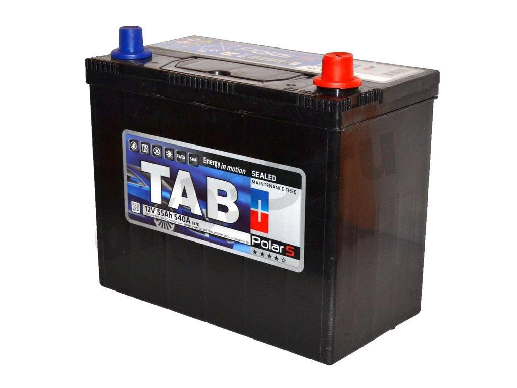 Аккумуляторы: TAB 55 А/ч Обратный Азия JIS B24L в Планета АКБ