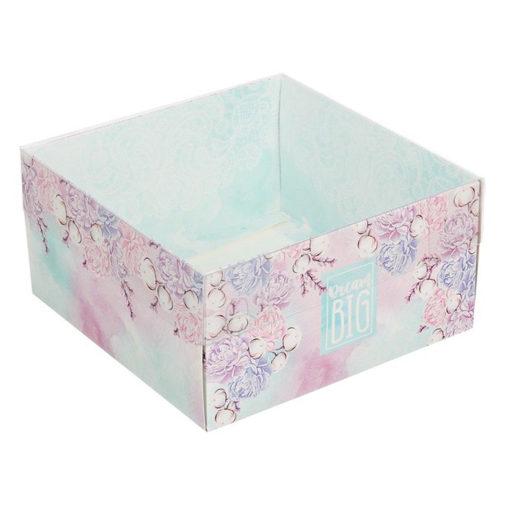 Коробки для кондитерских изделий: Коробка для кондитерских изделий с PVC крышкой «Большие мечты», 12 х 6 х 11,5 см в ТортExpress