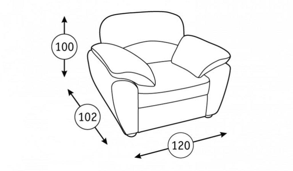 Кресла Фламенко: Кресло для отдыха Фламенко Арт. 40437 в Диван Плюс