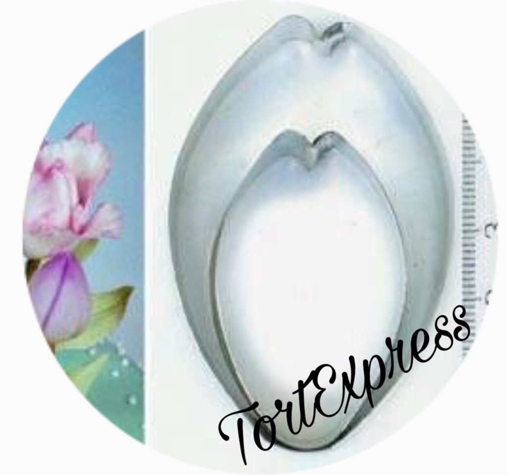 Вырубки: Набор форм для вырезания печенья Лист тюльпана в ТортExpress