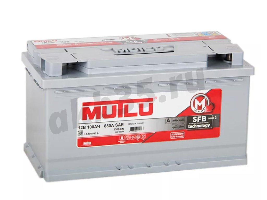 Аккумуляторы: MUTLU 100 А/ч /О.П./ SFB в Планета АКБ