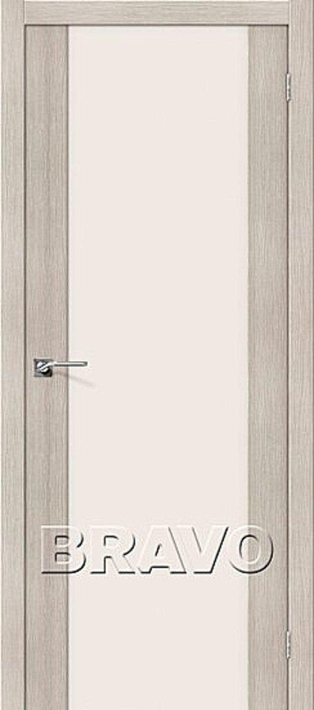 Двери экошпон BRAVO: Порта-13 Cappuccino Veralinga в STEKLOMASTER