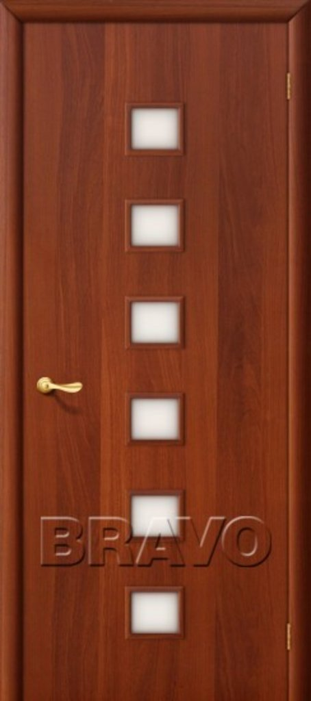 Двери ламинированные BRAVO: 1С Л-11 (ИталОрех) в STEKLOMASTER
