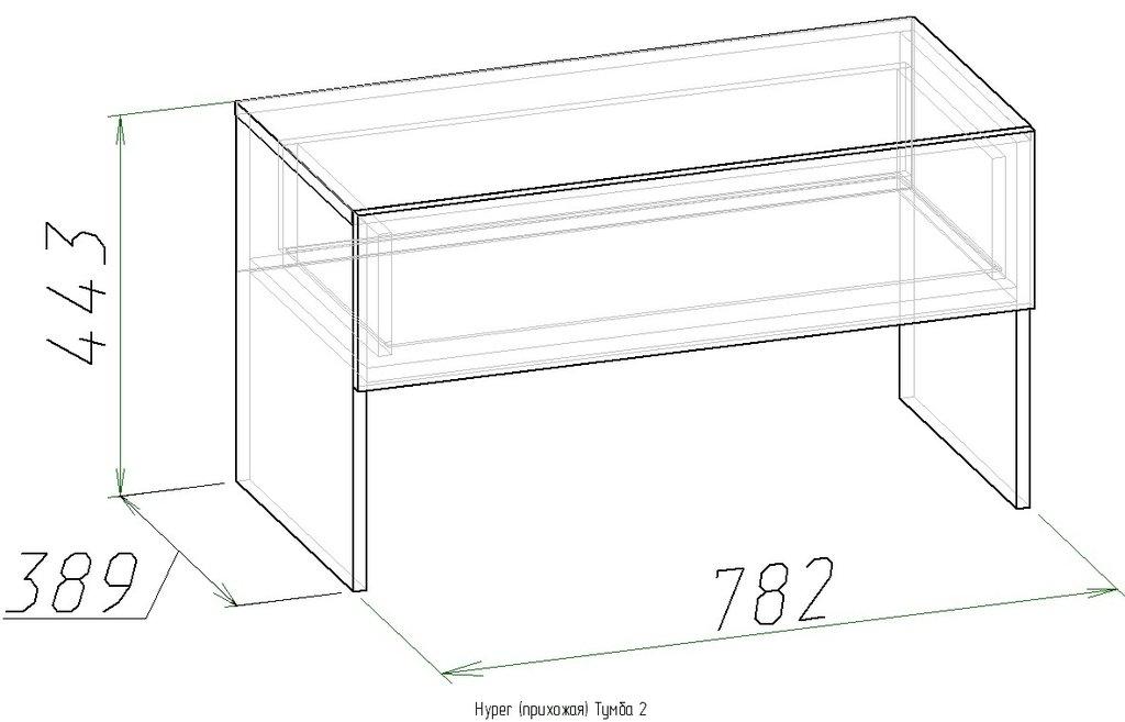 Этажерки и тумбы: Тумба 2 Hyper в Стильная мебель