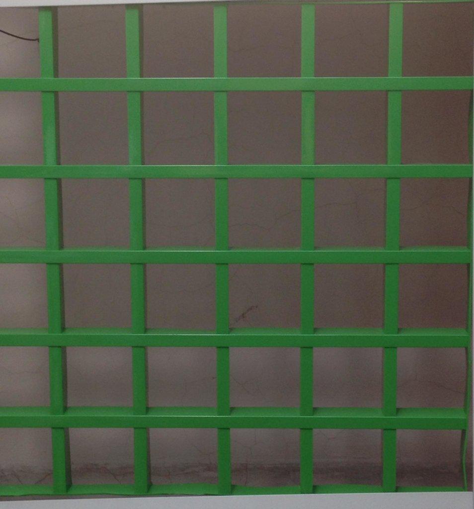 Потолки грильято: Потолок Грильято 100x100 h=40 зеленый (Cesal) в Мир Потолков