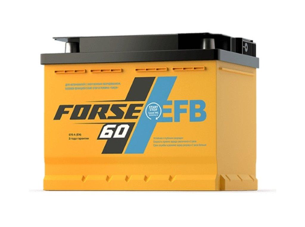 Forse: Аккумулятор FORSE EFB 6СТ-60 VL LB в БазаАКБ