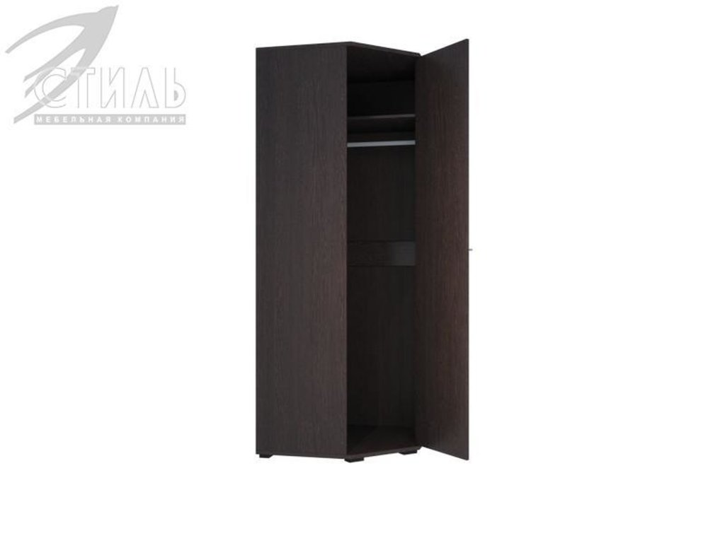 Мебель для спальни Луиза (венге / белый глянец): Шкаф угловой Луиза (венге / белый глянец) в Диван Плюс