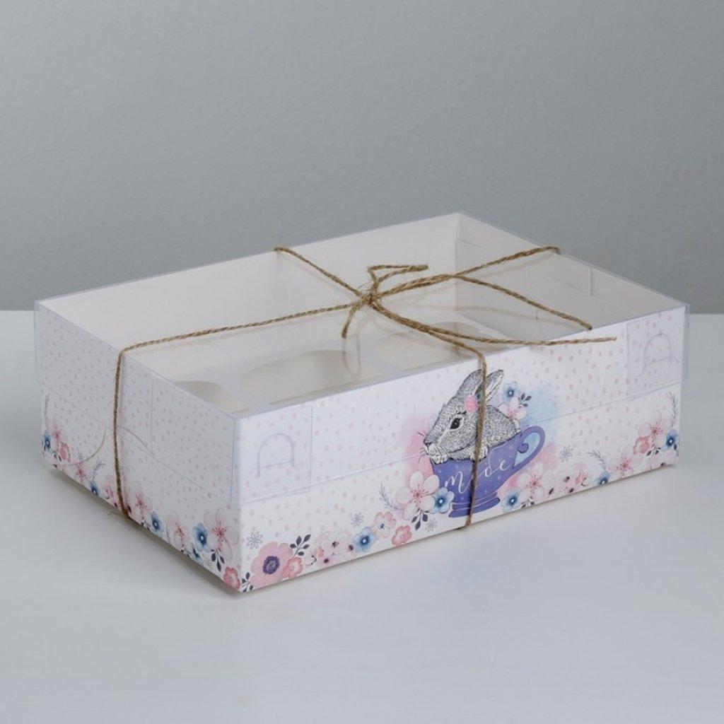 """Коробки для капкейков: Коробка для капкейков """"Тебе на радость"""", 23 х 16 х 7,5 см. в ТортExpress"""