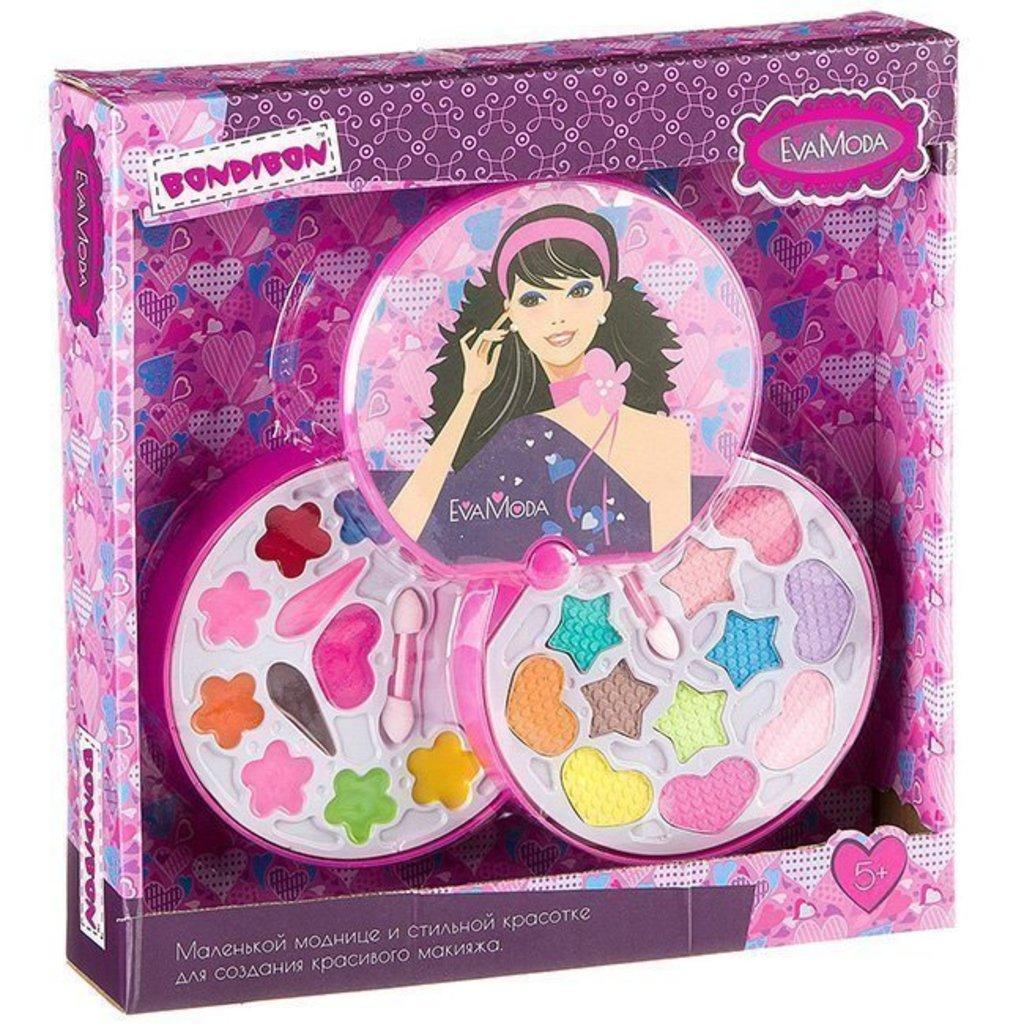 Игрушки для девочек: Bondibon  Eva Moda Набор детской декоративной косметики 10678F2 27.5х26х5см в Игрушки Сити