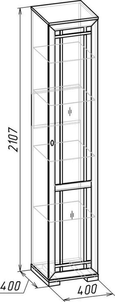 Буфеты и серванты: Шкаф для посуды Sherlock 131 в Стильная мебель