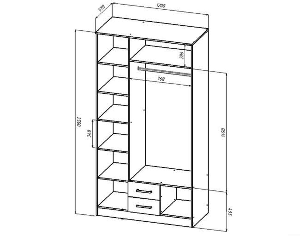 Шкафы для спальни: Шкаф 3-х створчатый Венеция (1200) в Стильная мебель