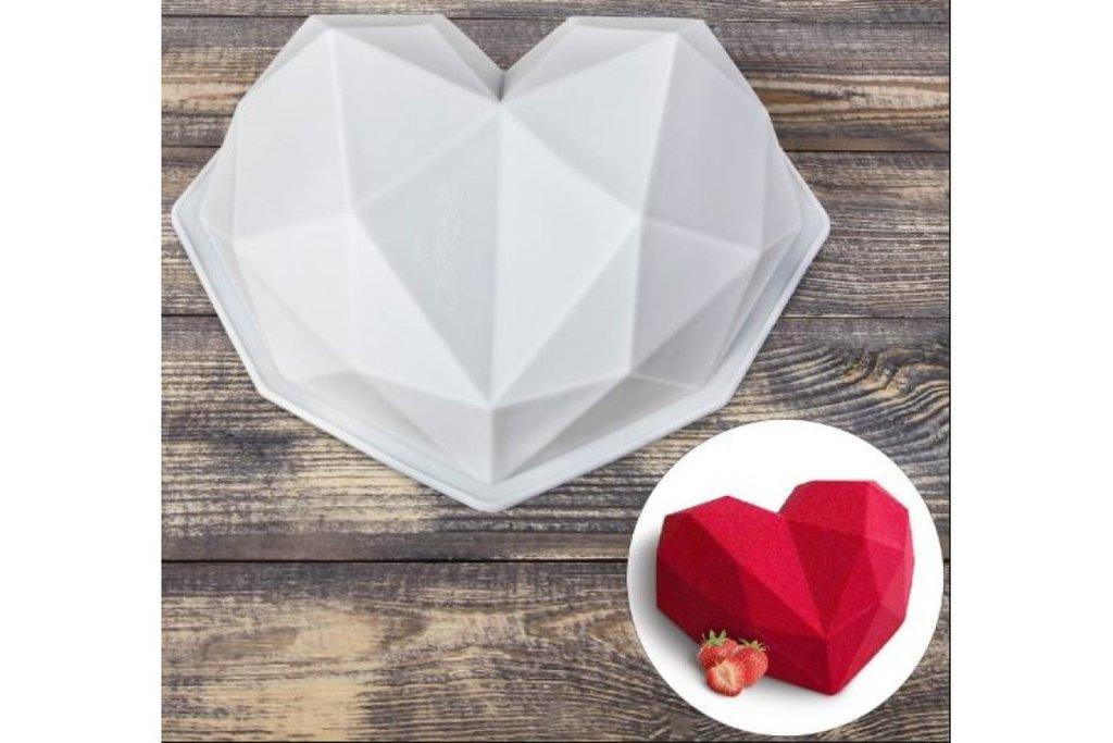 Кондитерский инвентарь: Форма для выпечки и муссовых десертов Геометрия любви в ТортExpress