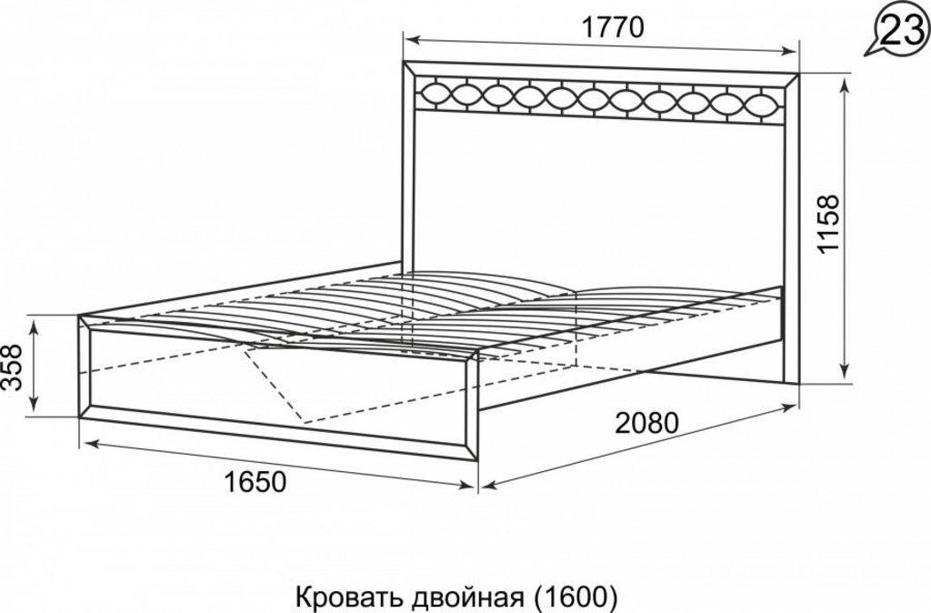 Кровати: Кровать двуспальная Брайтон (1600, латы дерево) в Стильная мебель