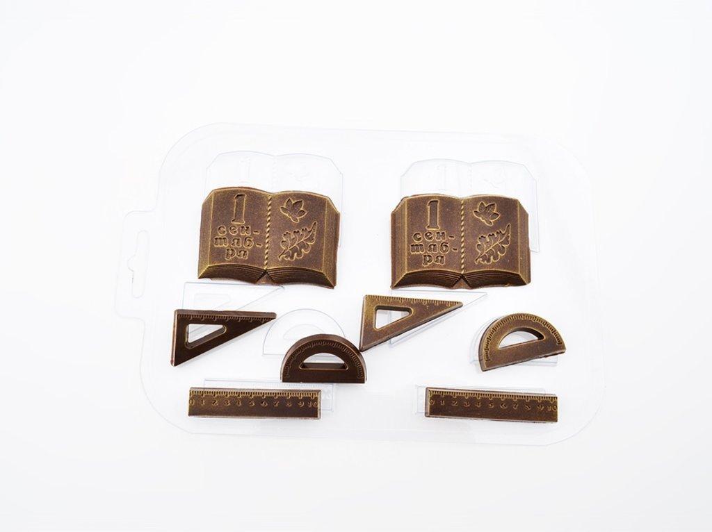 Пластиковые формы для шоколада: Форма пластиковая для шоколада Школьный набор №2 в ТортExpress