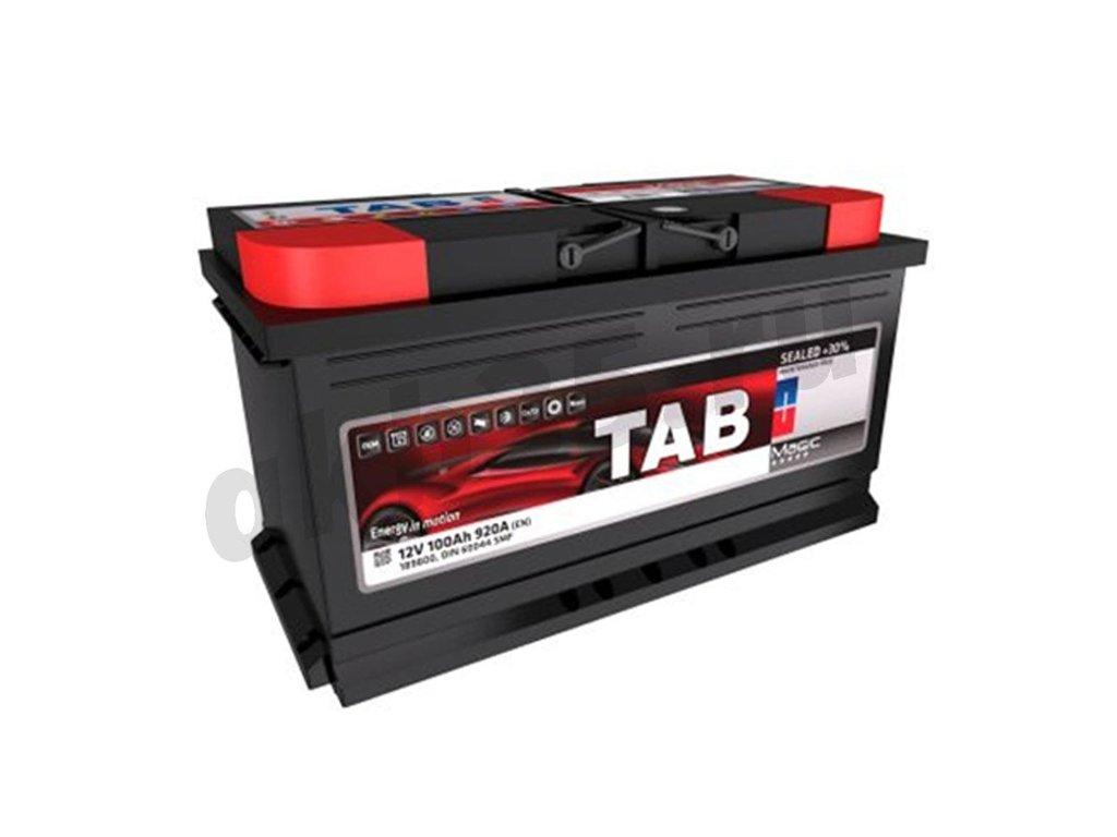Аккумуляторы: TAB 100 А/ч Обратный Низкий MAGIC в Планета АКБ