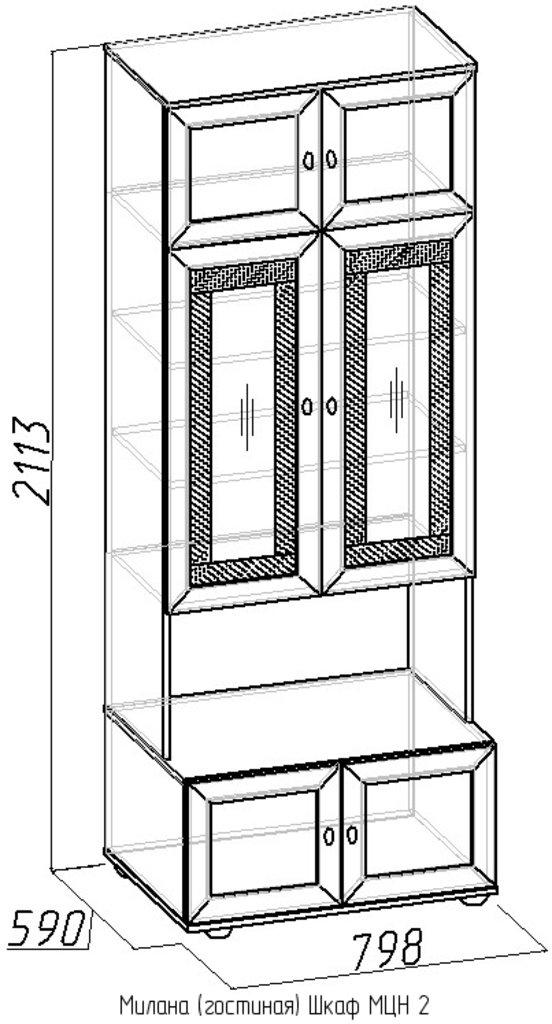 Шкафы, общие: Шкаф МЦН 2 Милана в Стильная мебель