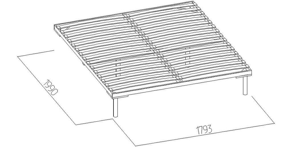 Кровати: Кровать Бриз 31 (1800, орт. осн. дерево) в Стильная мебель