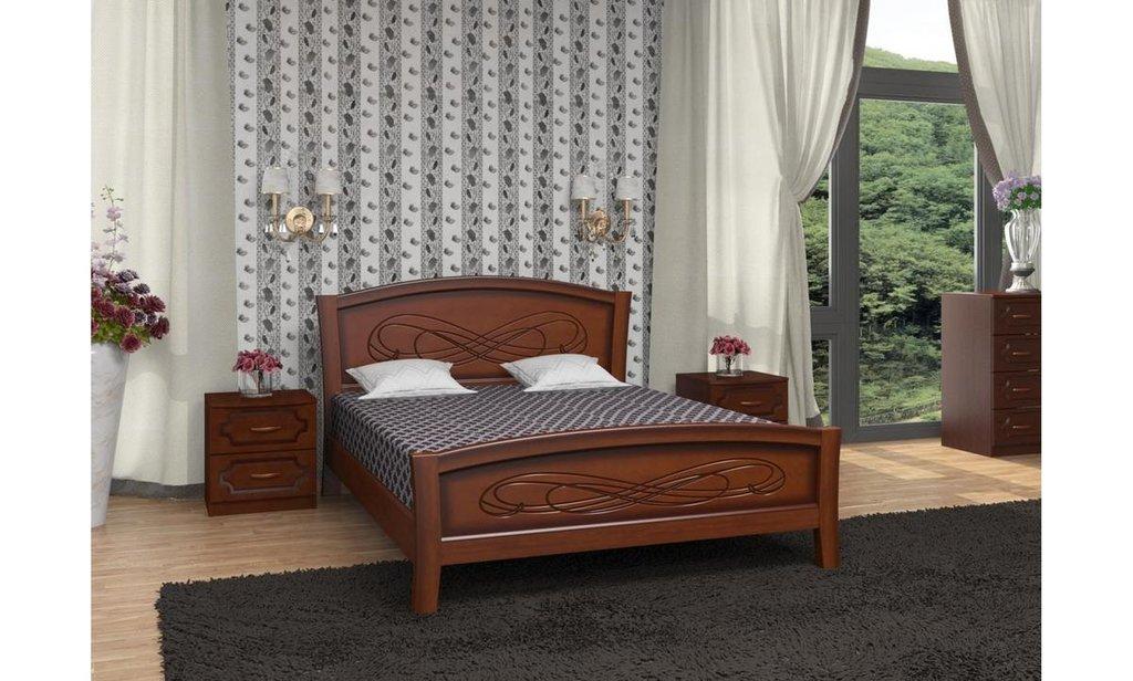 Серия Карина: Кровать Карина-16 (массив) в Уютный дом