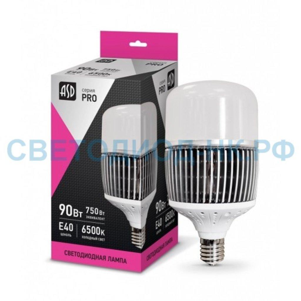 Мощные лампы Е40, Е27: LED-HP-PRO 90Вт 230В  Е40 6500К 9000Лм ASD, шт в СВЕТОВОД