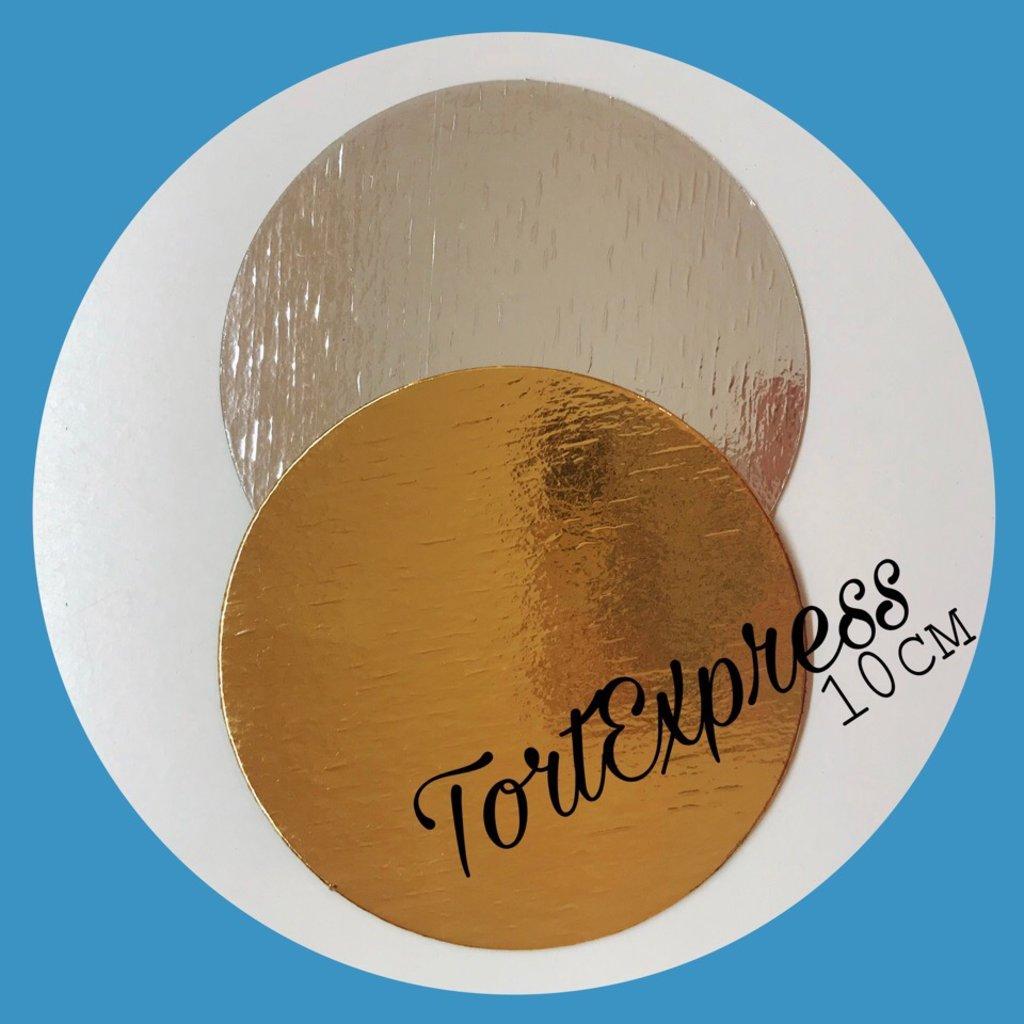 Упаковка: Подложка d10 золото/серебро 0,8мм в ТортExpress