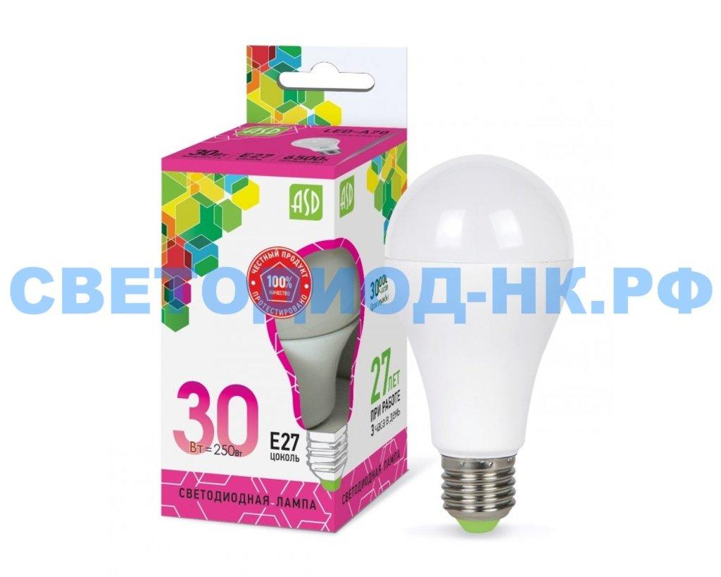 Цоколь Е27: LED-A70-standard 30Вт E27 6500K 2700Лм ASD в СВЕТОВОД