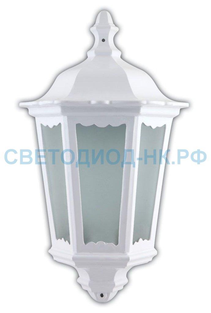 Садово-парковые светильники: 6206 60W 230V E27 240*110*435мм белый (половинка на стену) в СВЕТОВОД