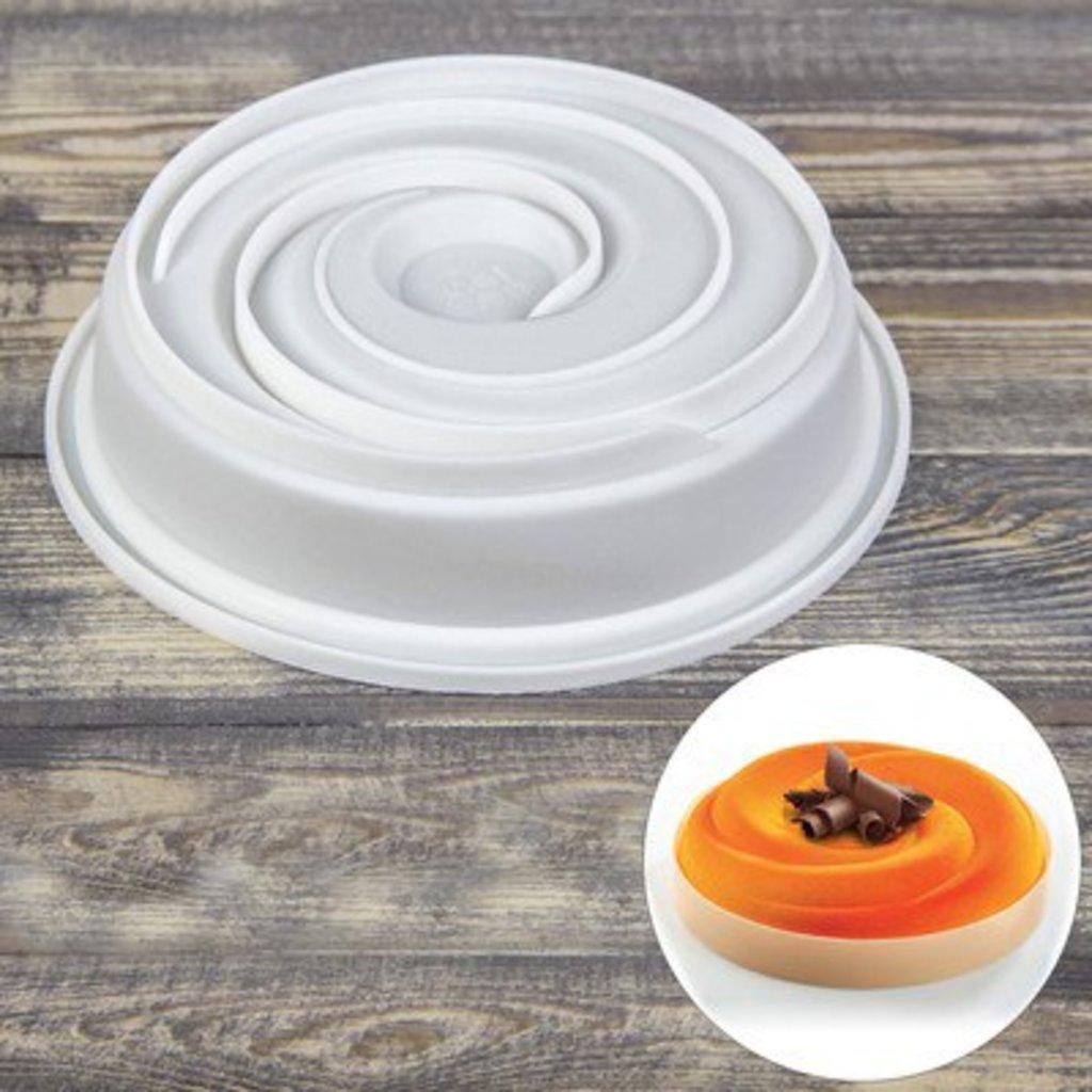 """3d формы: Форма для муссовых десертов и выпечки 19,2×5 см """"Круговорот"""" в ТортExpress"""