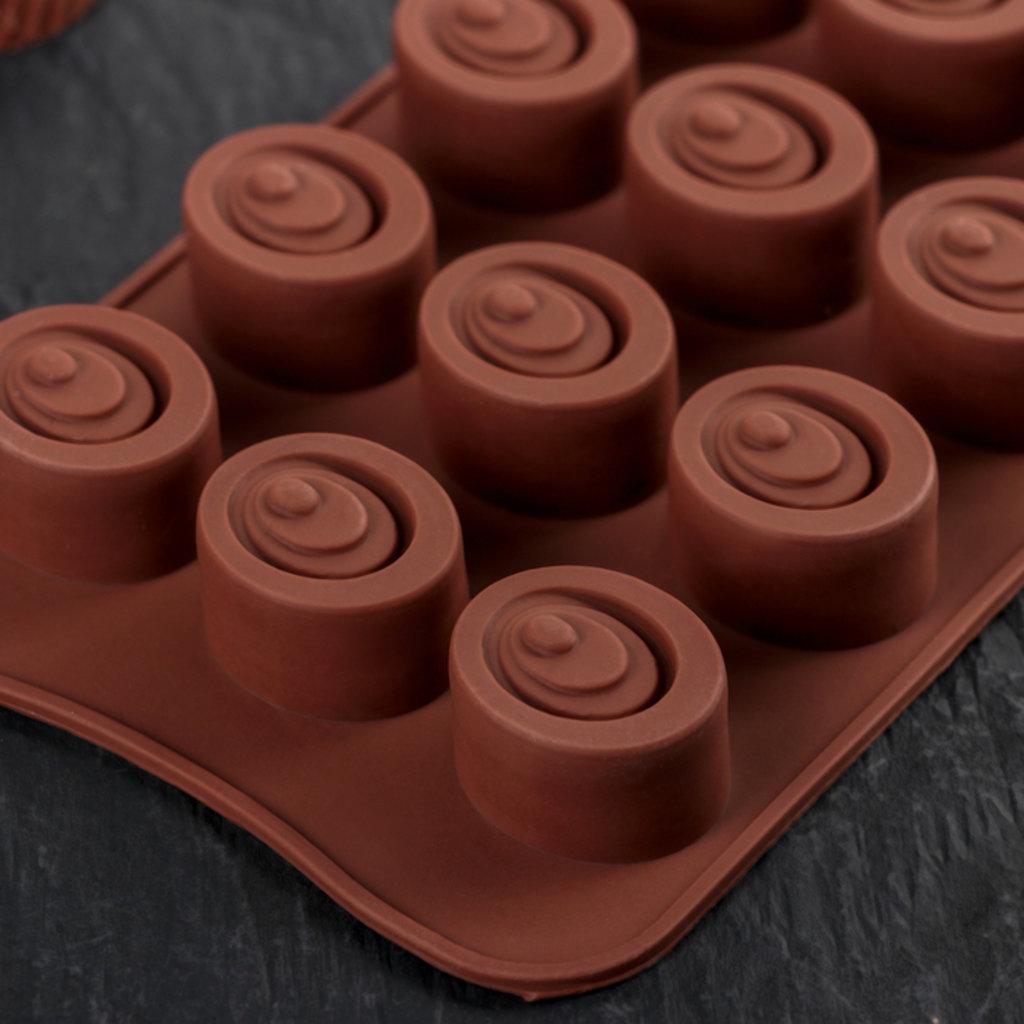 Кондитерский инвентарь: Форма для льда шоколада Шоколадное удовольствие 15 ячеек в ТортExpress