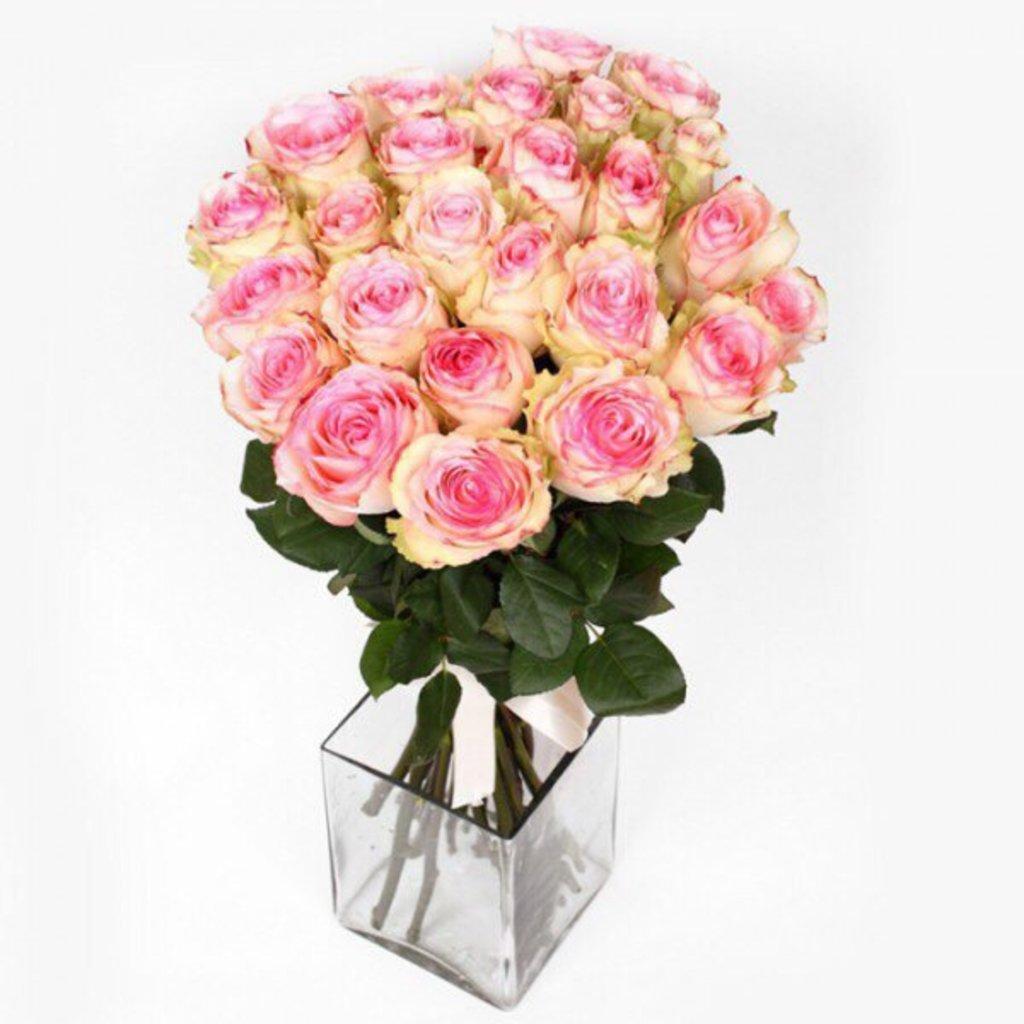 Цветы: Розы нежно розовые в Николь, магазины цветов