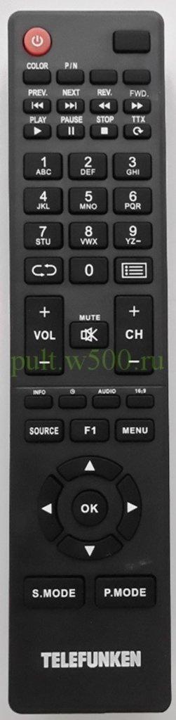 TELEFUNKEN: Пульт TELEFUNKEN TF-LED32S4, TF-LED32S34 кл. F1 Hyundai (LCD) оригинал в A-Центр Пульты ДУ