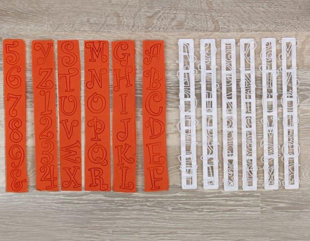 """Кондитерский инвентарь: Набор печатей для марципана и теста """"Буквы и Цифры"""" 6 шт 25х9х1,5 см в ТортExpress"""