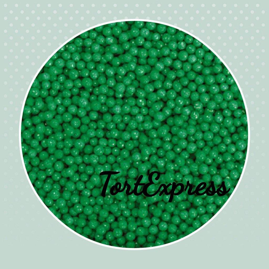Посыпки декоративные: Шарики зеленые 2 мм в ТортExpress