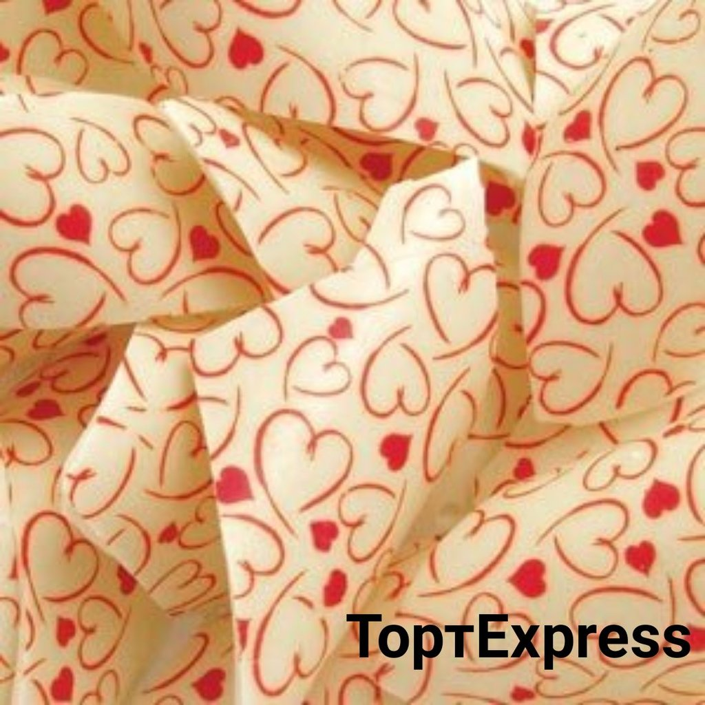 Шоколадный декор: Переводной лист для шоколада сердечки в ТортExpress