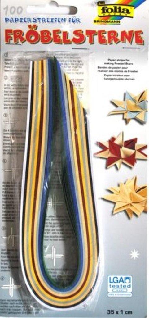 Квиллинг: Folia Набор бумаги для квиллинга, 130г, 35*1см, 100шт в Шедевр, художественный салон