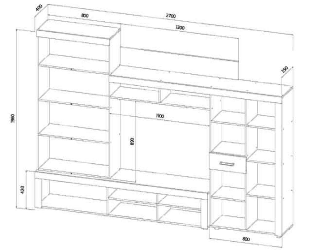 Мебель для гостиных, общее: Гостиная Престиж в Стильная мебель