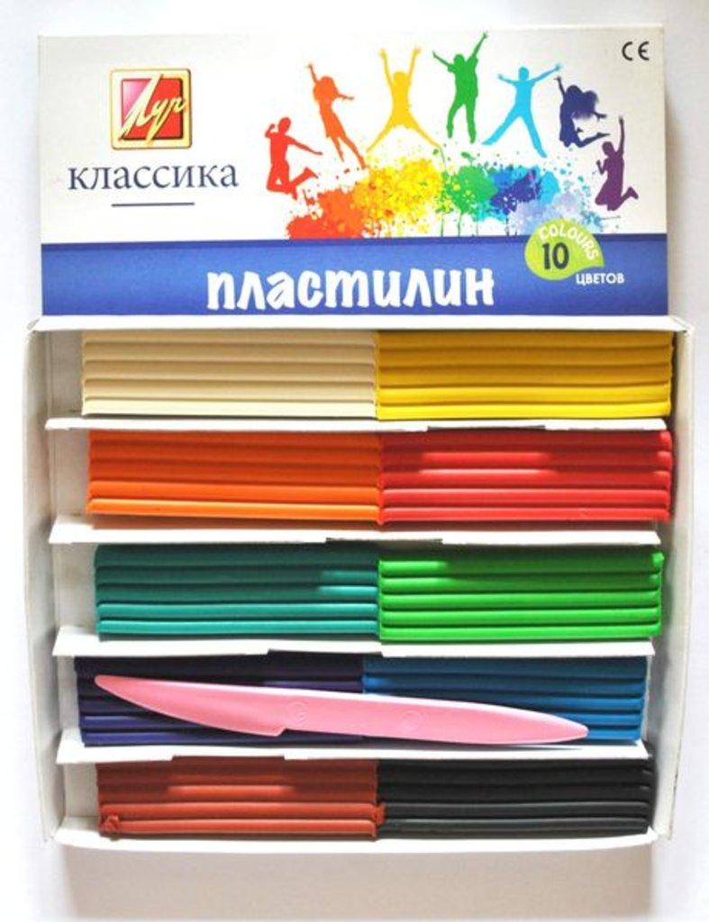 """Пластилин: Пластилин """"Классика """" 10 цветов Луч в Шедевр, художественный салон"""
