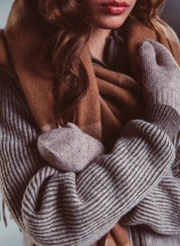 Варежки и перчатки: Варежки из шерсти яка (взрослые) в Сельский магазин