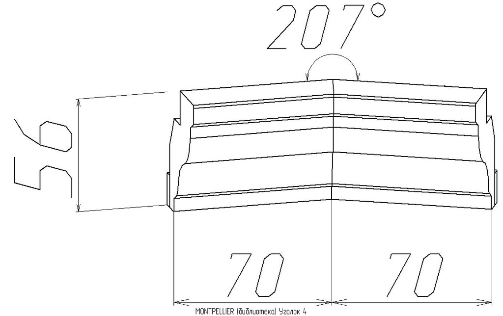 Мебельные направляющие и комплектующие: Уголок 4 Montpellier в Стильная мебель