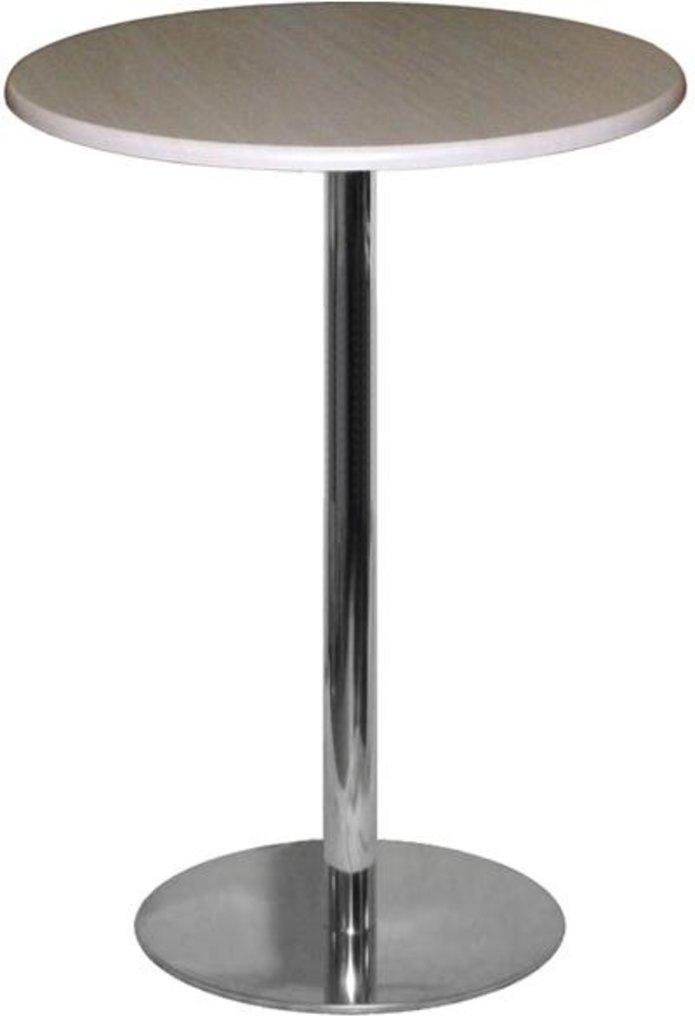 Столы для ресторана, бара, кафе, столовых.: Стол круг 80, подстолья 1001 ЕМ нержавейка (матовое) в АРТ-МЕБЕЛЬ НН