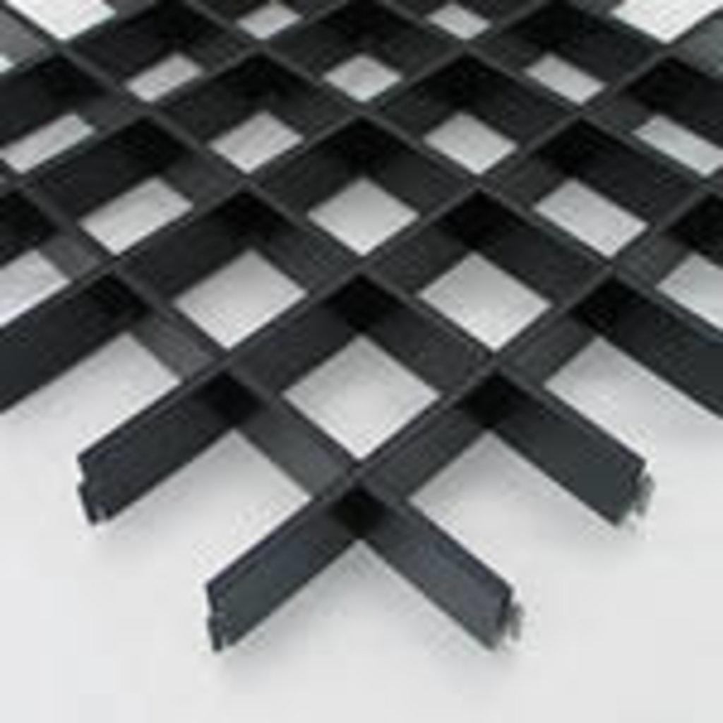 Потолки грильято: Потолок Грильято 75x75 h=40 черный (Cesal) в Мир Потолков