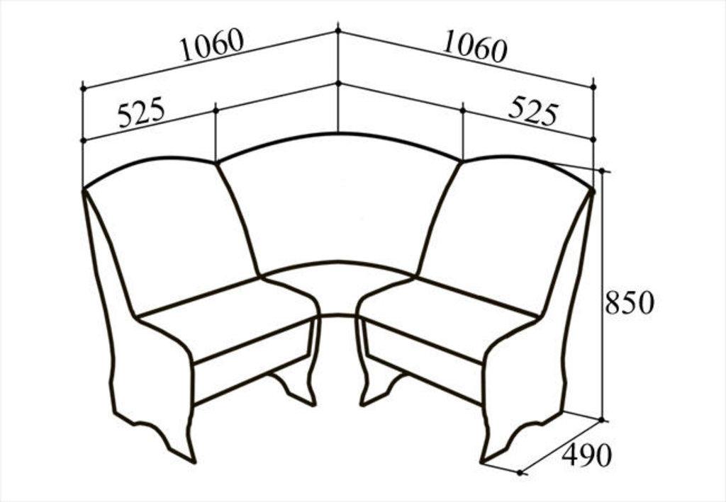 Кухонные уголки: Кухонный уголок КУ-3м в Уютный дом