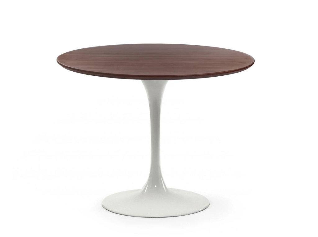 Столы обеденные: Стол обеденный Априори T круглый 90 см 13т орех в Актуальный дизайн